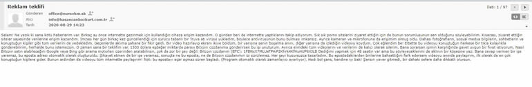 Spam E-Posta Örneği